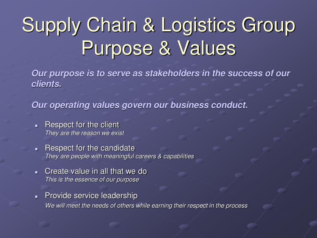 Supply Chain & Logistics Group