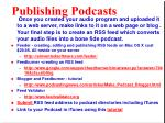 publishing podcasts