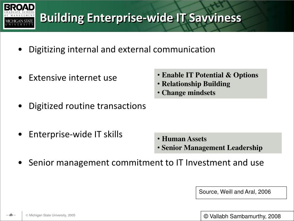 Building Enterprise-wide IT Savviness