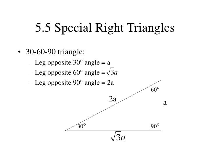 5.5 Special Right Triangles