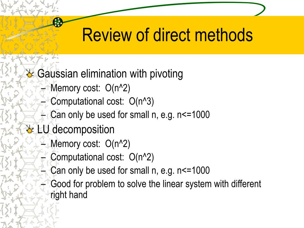 Review of direct methods