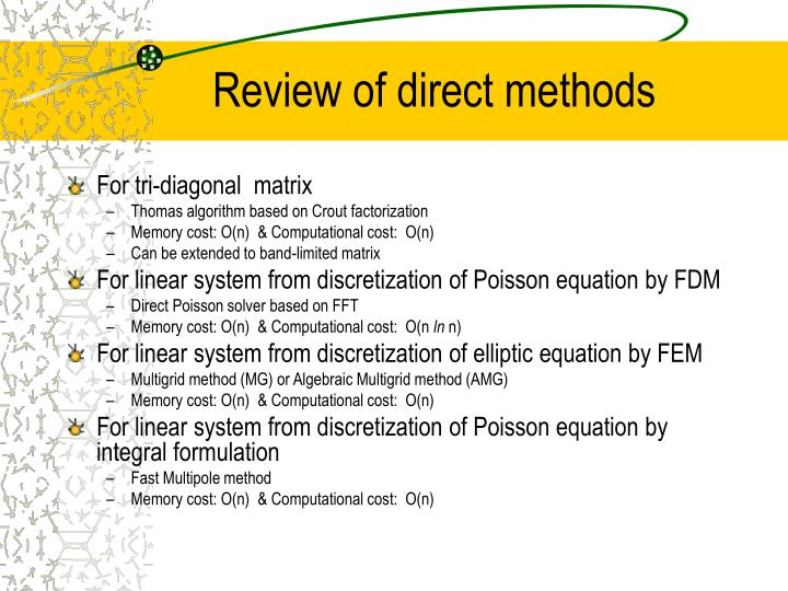 Review of direct methods3