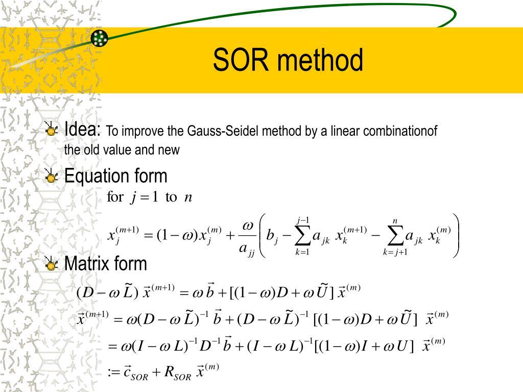 SOR method