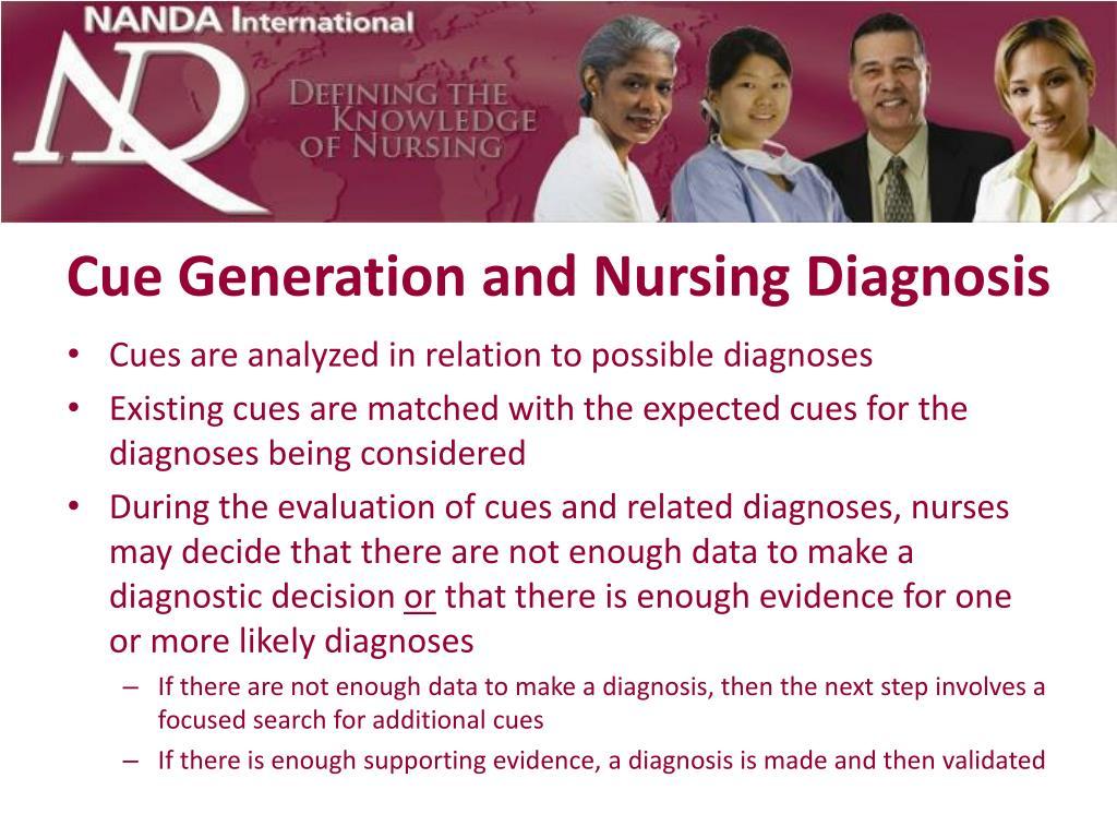 Cue Generation and Nursing Diagnosis