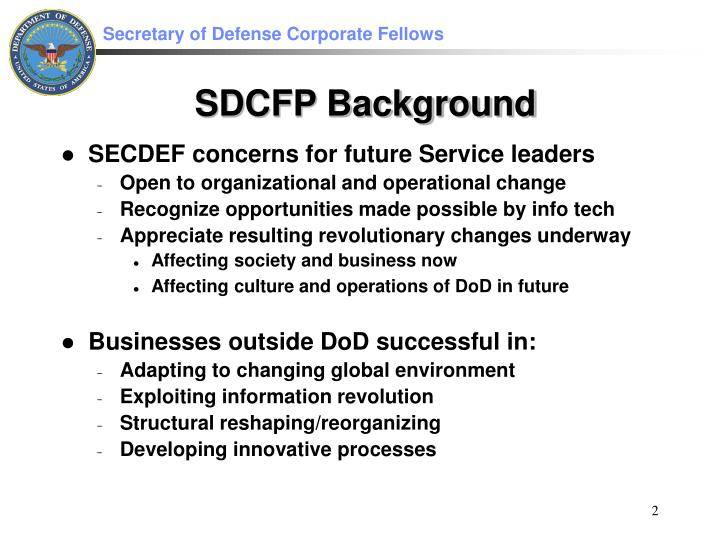 Sdcfp background