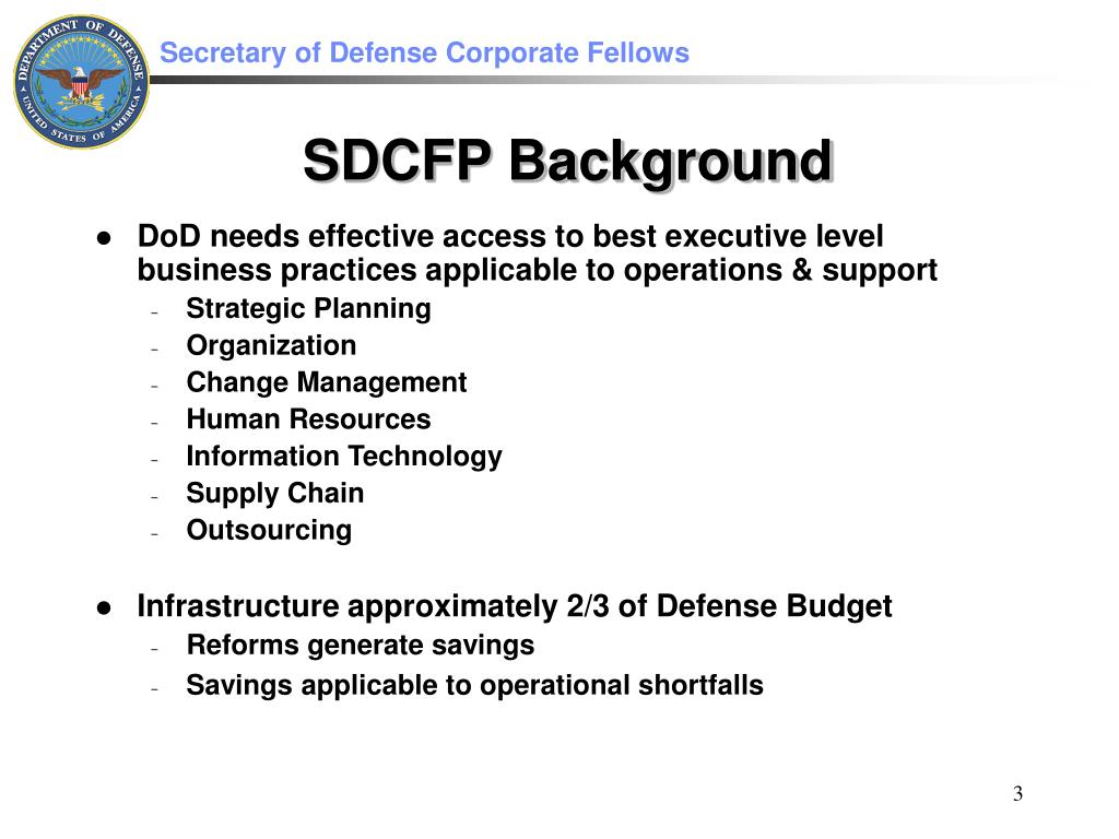 DoD needs effective access to best executive level business practices applicable to operations & support