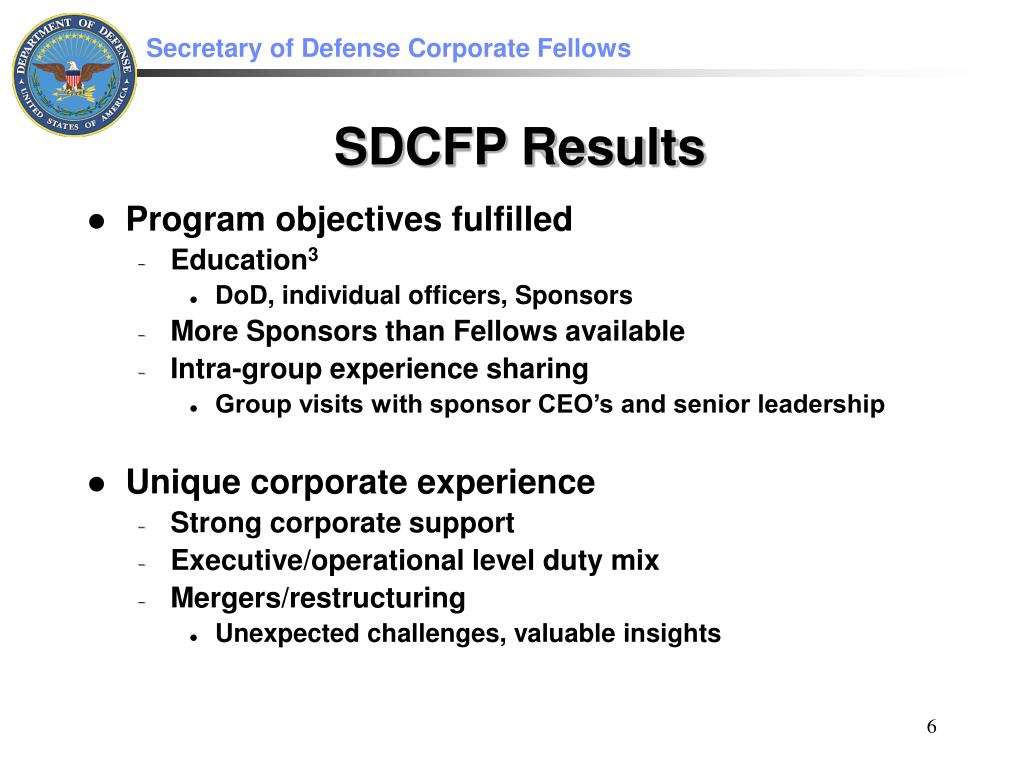 Program objectives fulfilled