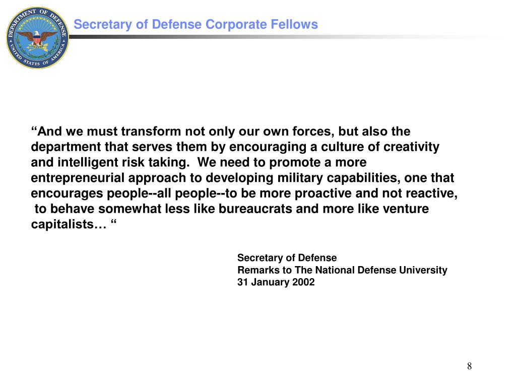 """""""And we must transform not only our own forces, but also the"""