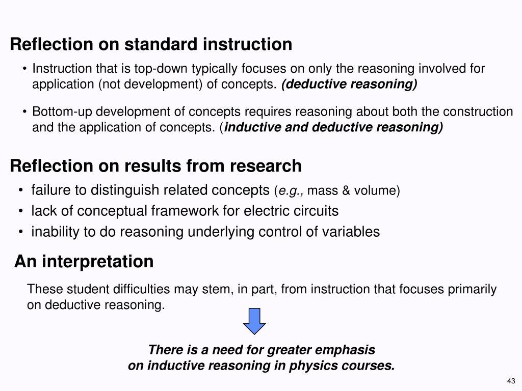 Reflection on standard instruction