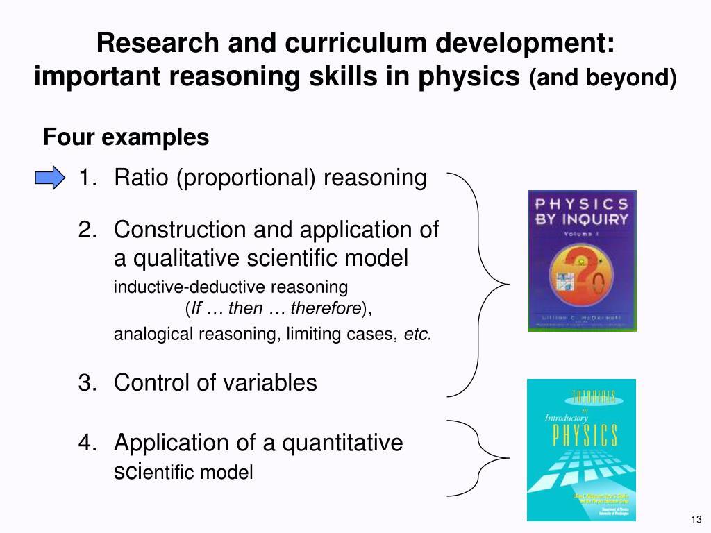 Research and curriculum development:
