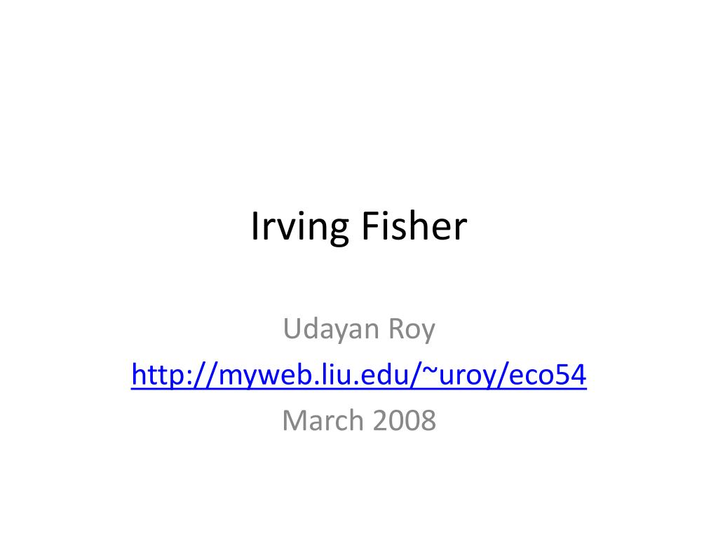 irving fisher l.