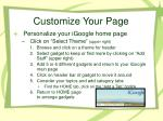customize your page