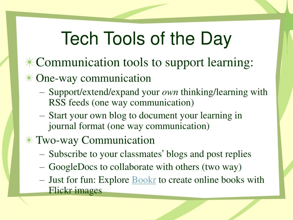 Tech Tools of the Day