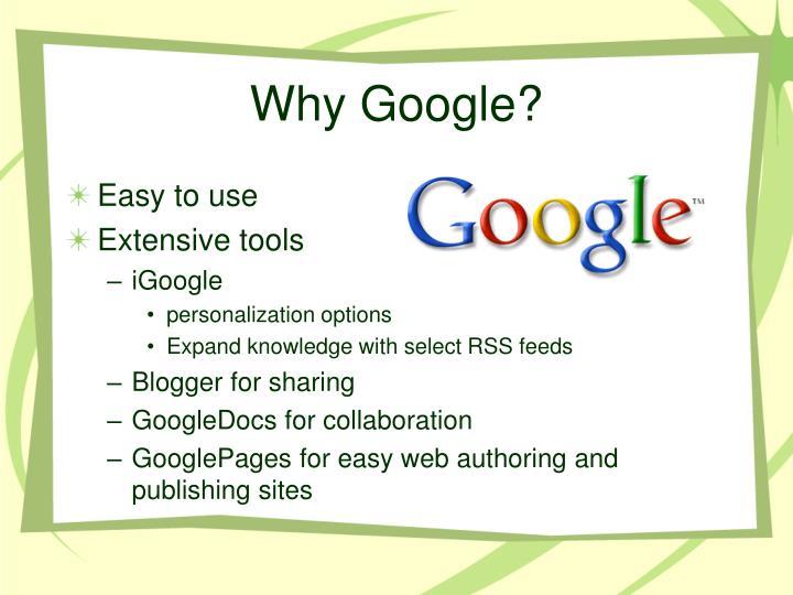 Why google