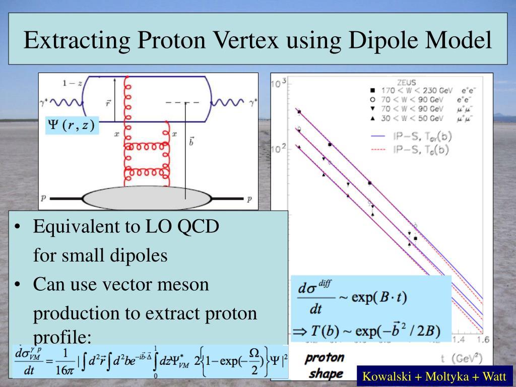 Extracting Proton Vertex using Dipole Model