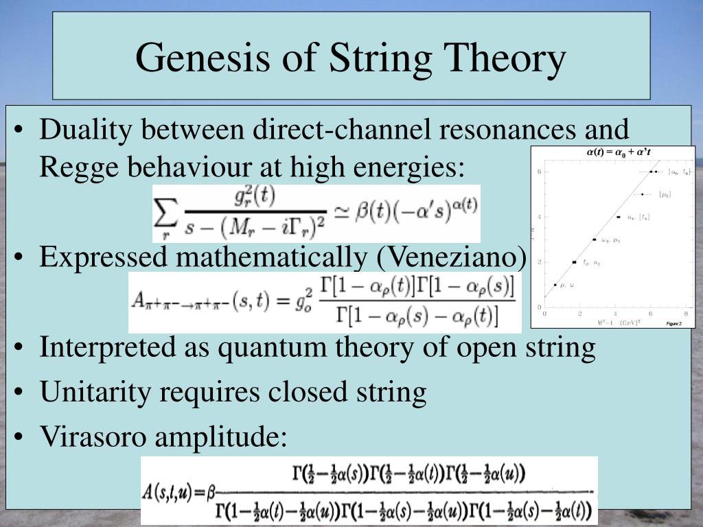 Genesis of String Theory