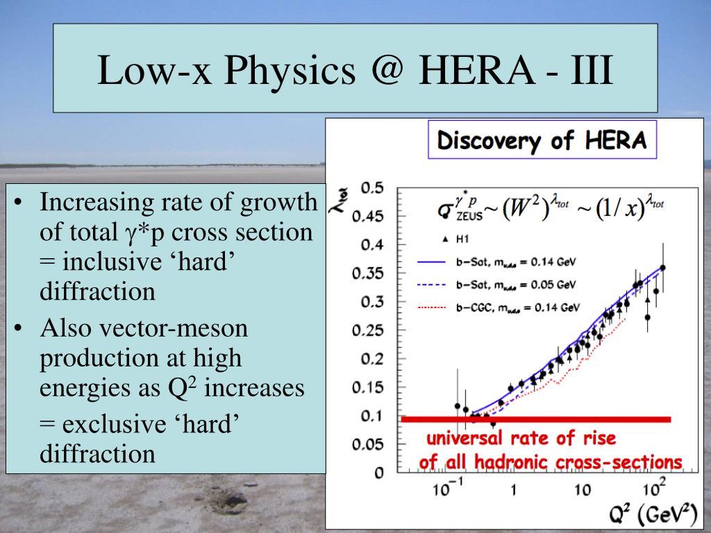 Low-x Physics @ HERA - III