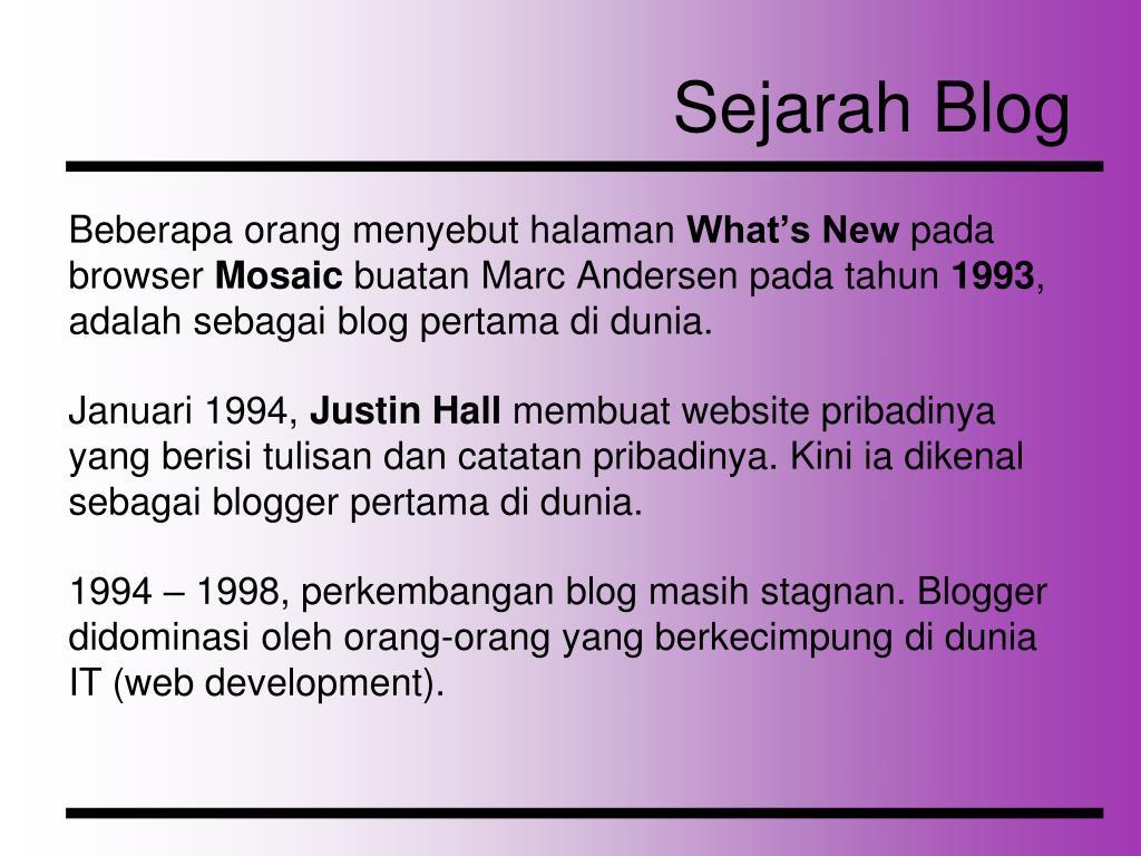 Sejarah Blog