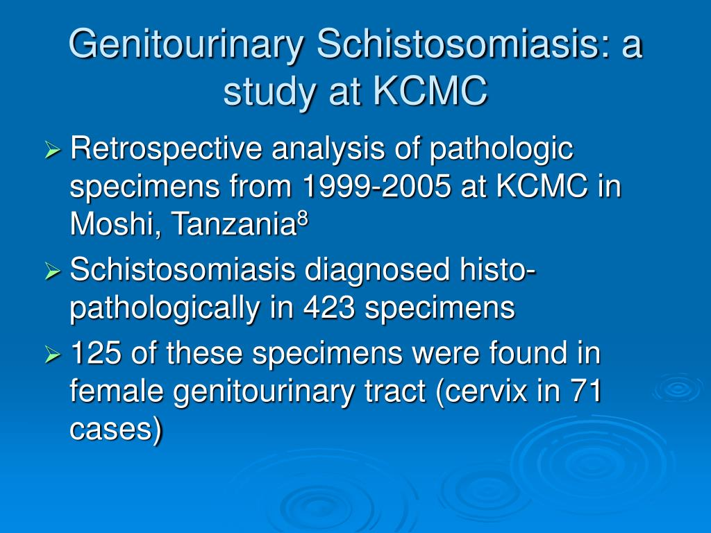 Genitourinary Schistosomiasis: a study at KCMC