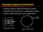 kinematic analysis of mechanisms