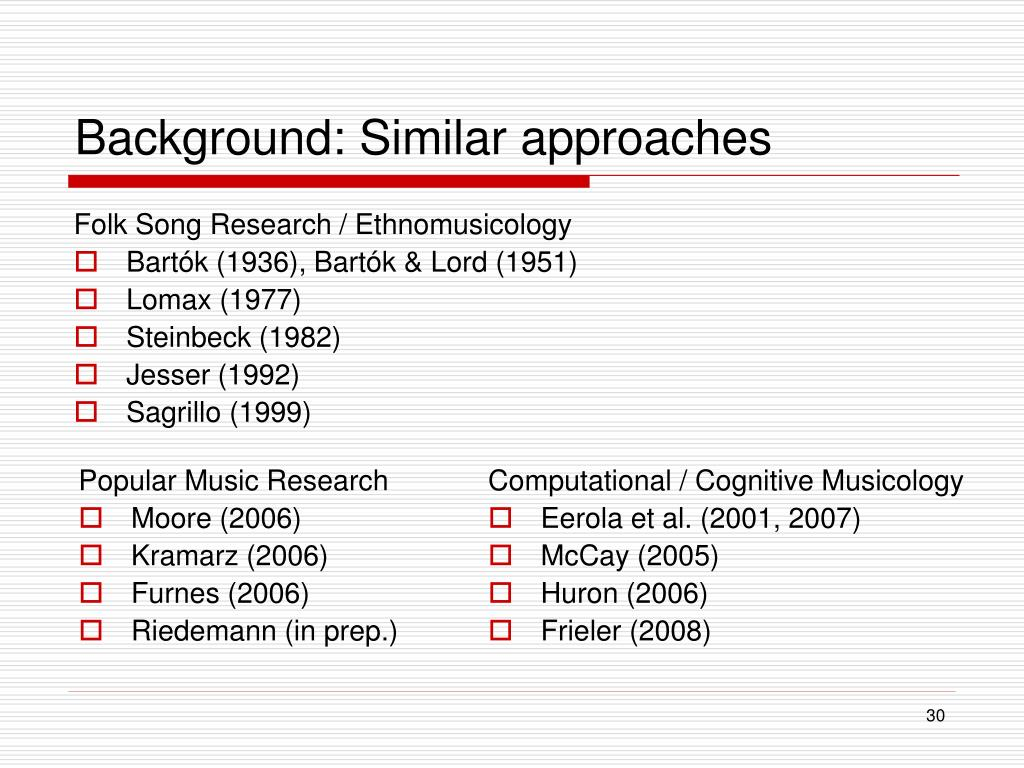 Background: Similar approaches