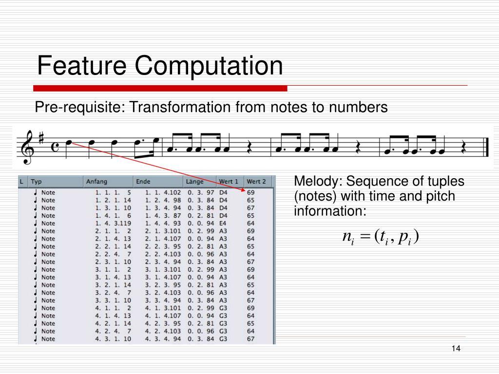 Feature Computation