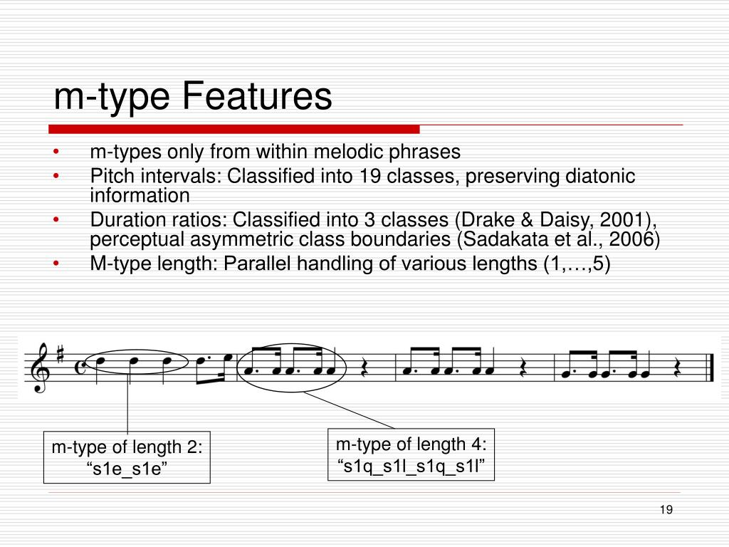 m-type Features