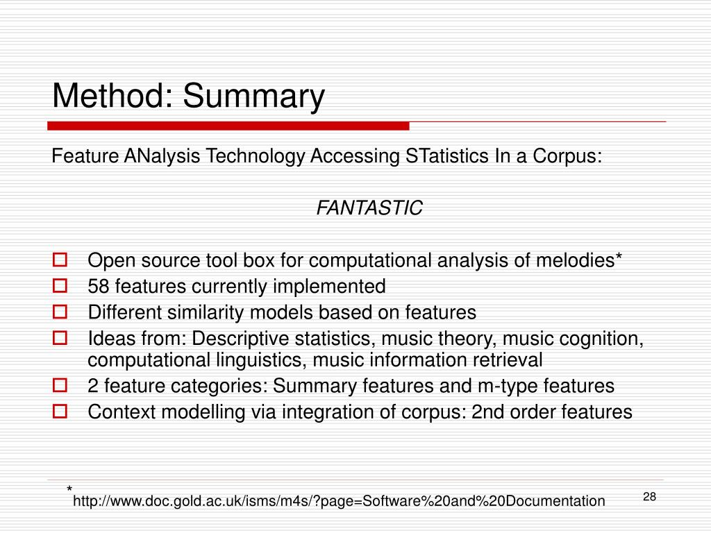 Method: Summary