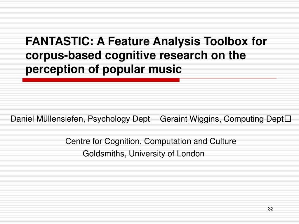 FANTASTIC: A Feature Analysis Toolbox for corpus-based cognitive research on the perception of popular music
