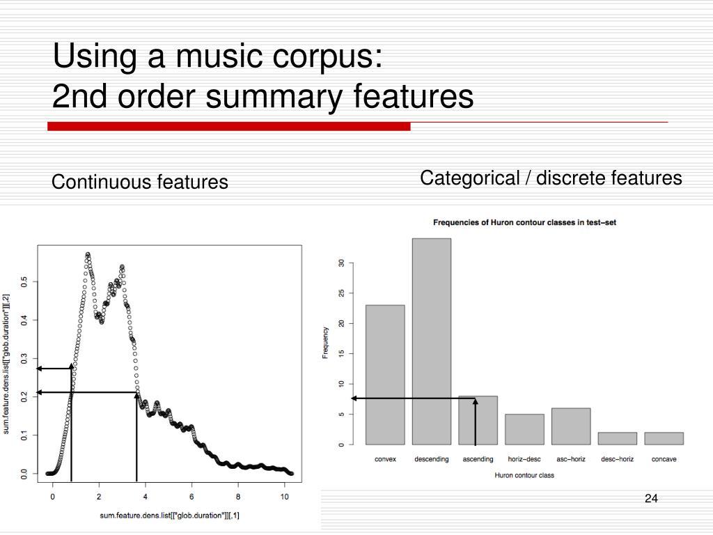 Using a music corpus:
