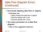 data flow diagram errors continued26