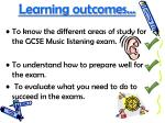 learning outcomes39