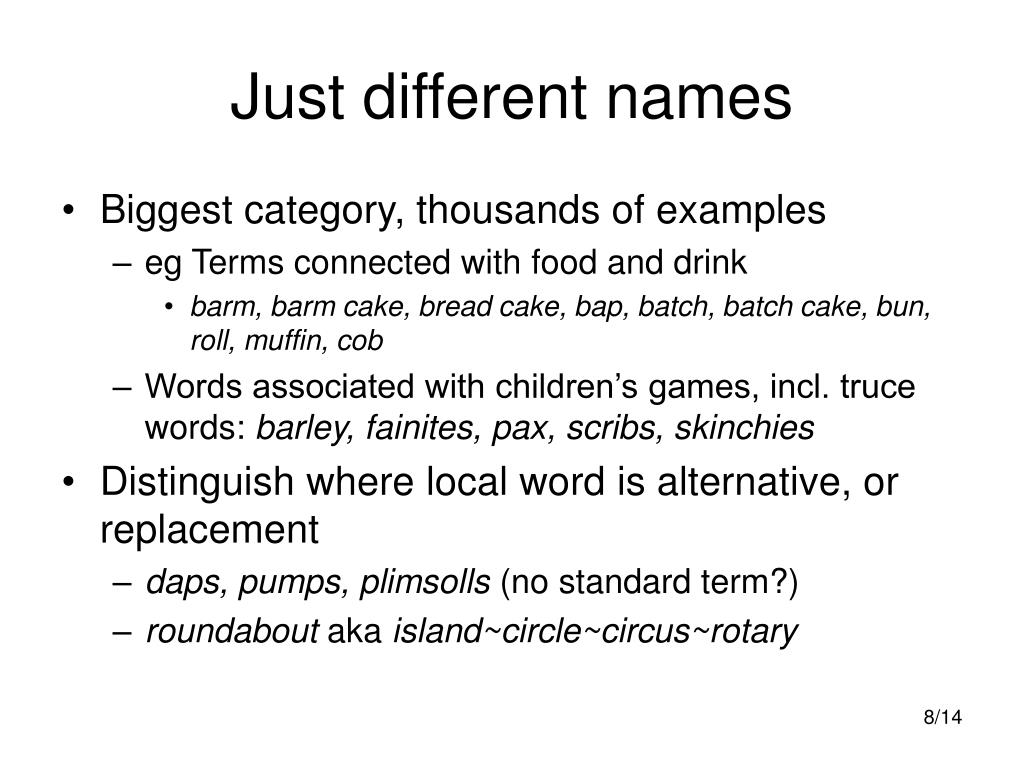 Just different names