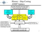history ship costing anep updates