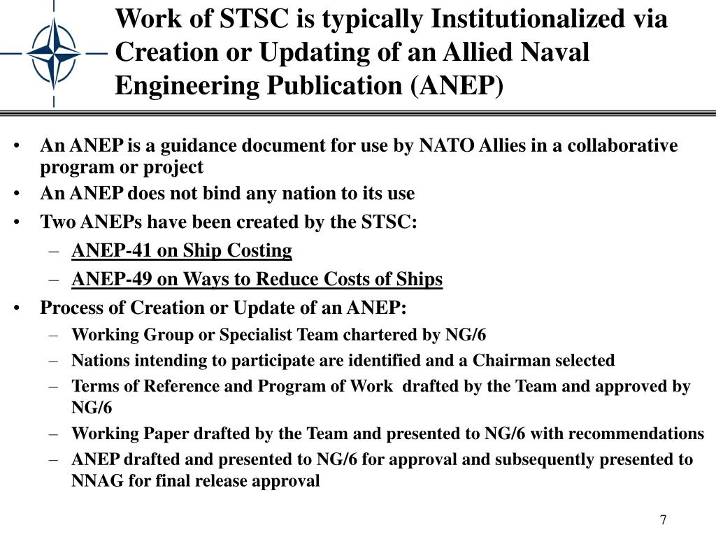 An ANEP is a guidance document for use by NATO Allies in a collaborative program or project