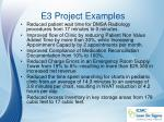 e3 project examples