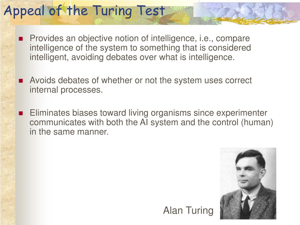 Appeal of the Turing Test