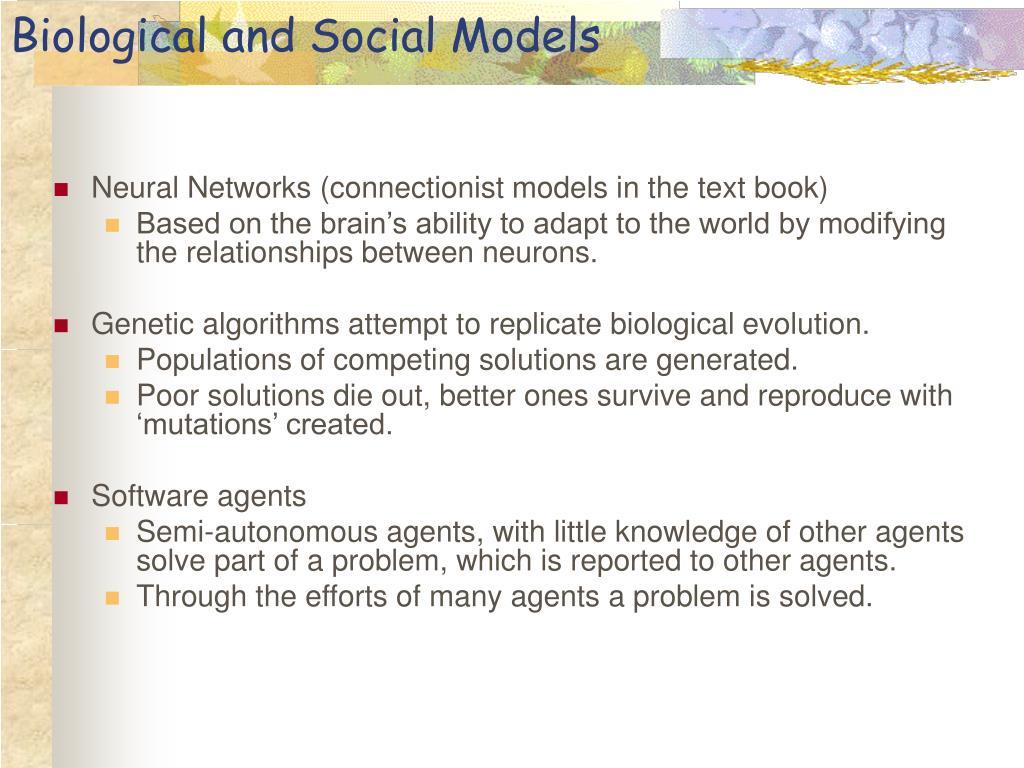 Biological and Social Models