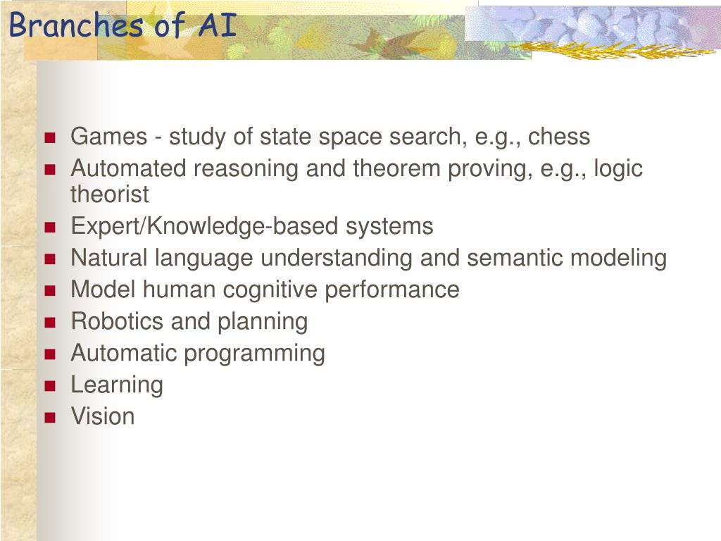 Branches of AI