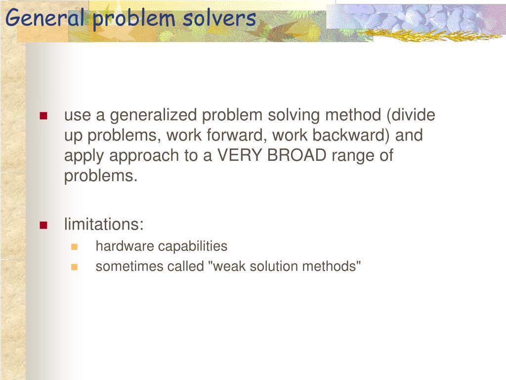 General problem solvers