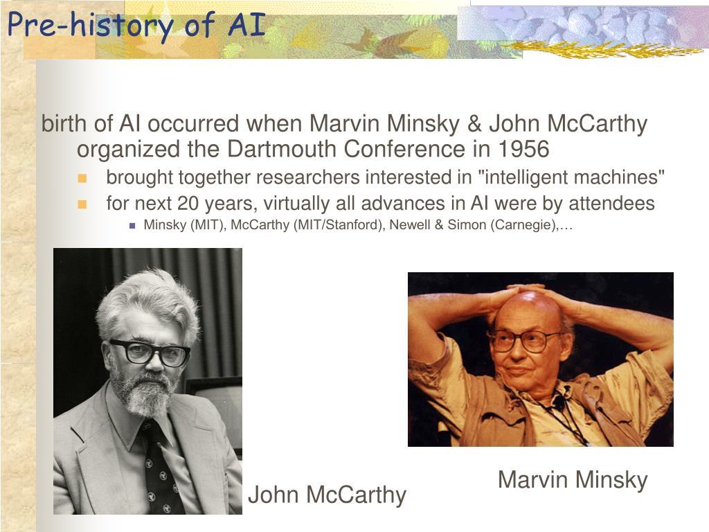 Pre-history of AI