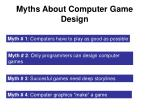 myths about computer game design