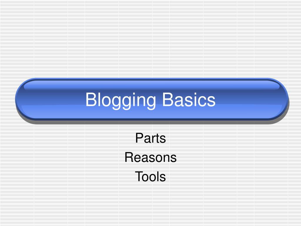 blogging basics l.