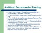 additional recommended reading