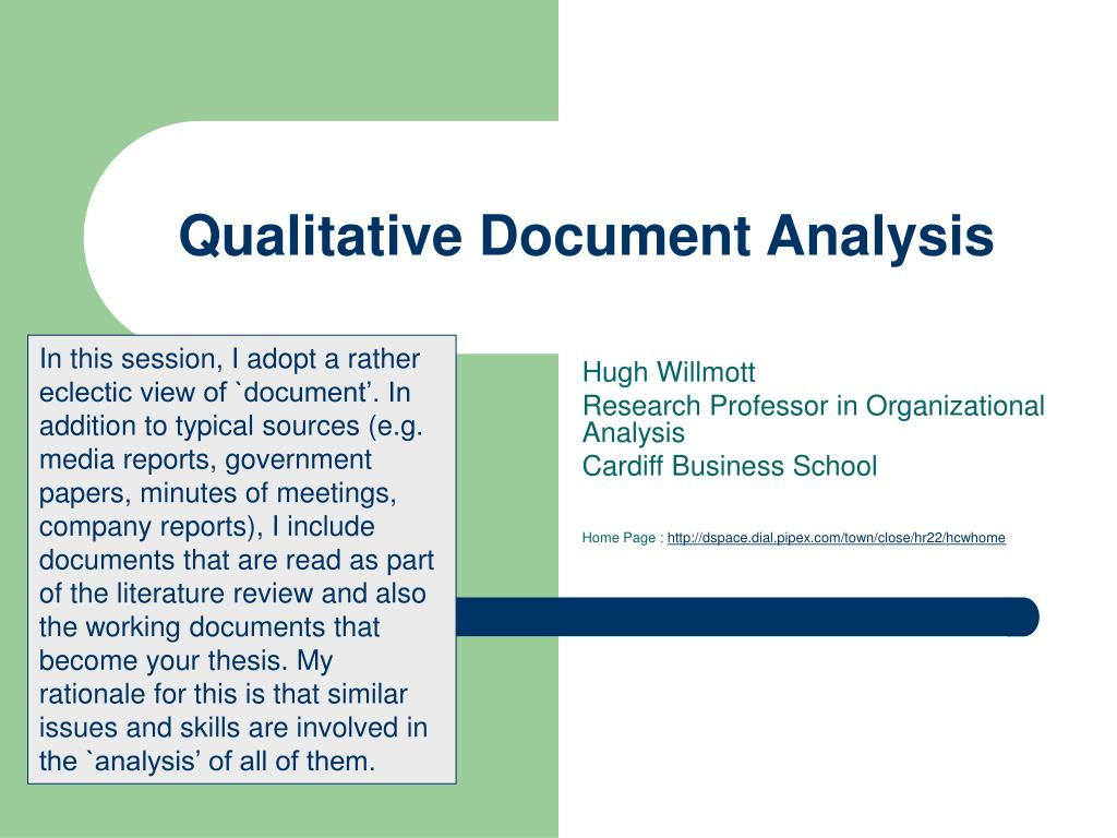qualitative document analysis l.
