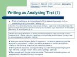 writing as analysing text 1