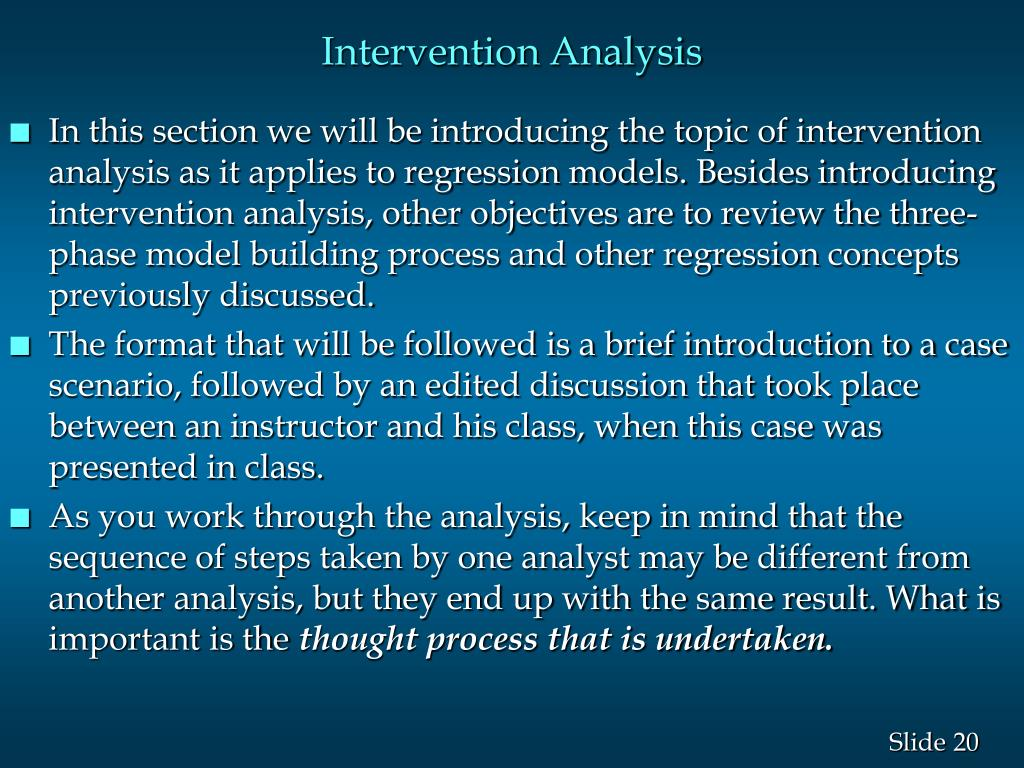 Intervention Analysis
