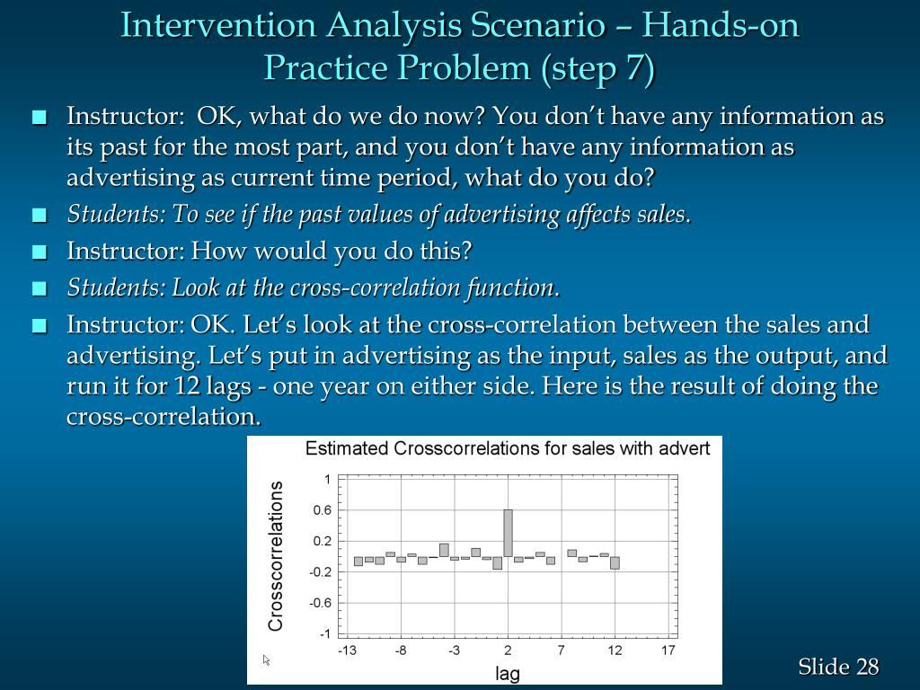 Intervention Analysis Scenario – Hands-on Practice Problem (step 7)