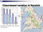 class based variation in norwich