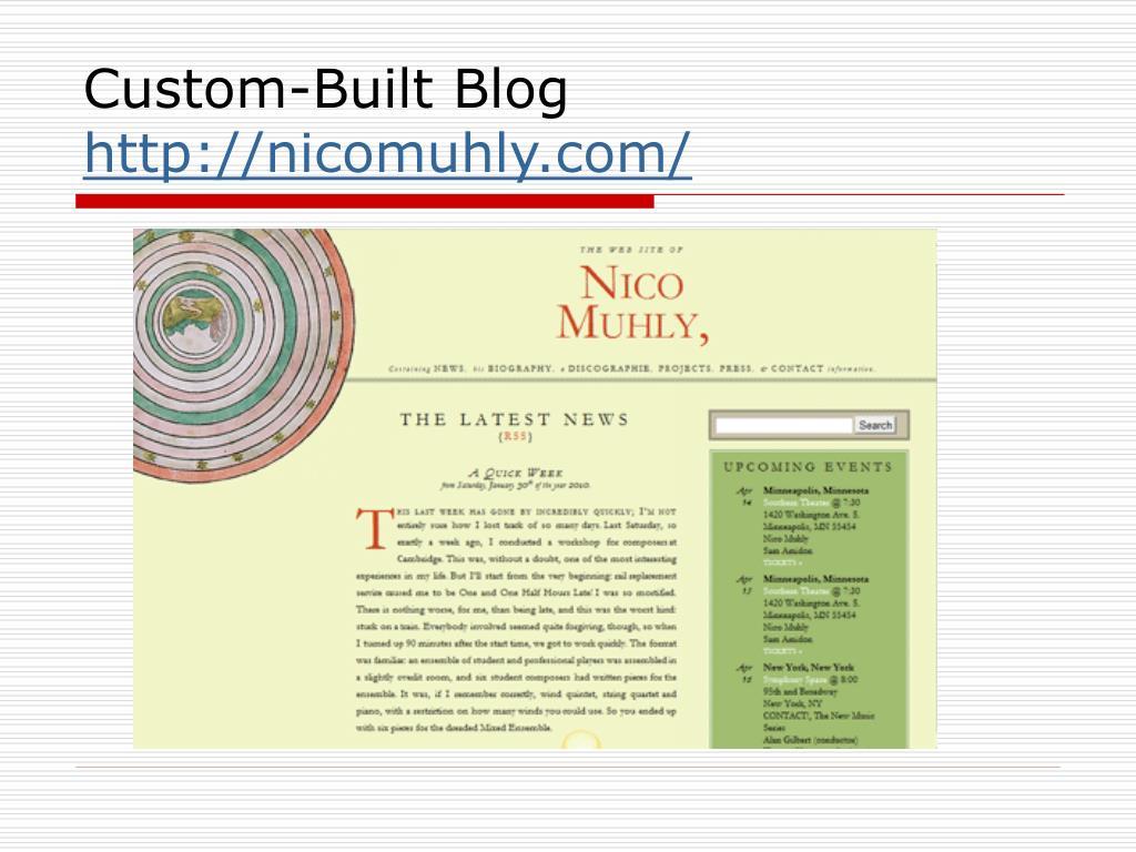 Custom-Built Blog